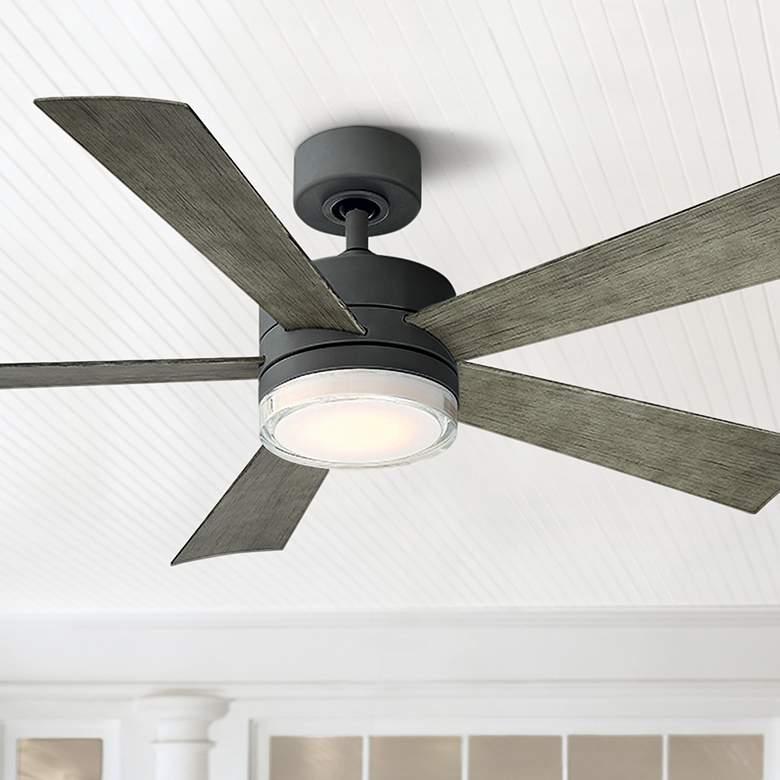 52 Modern Forms Wynd Graphite Led Wet Ceiling Fan 58r75 Lamps Plus Ceiling Fan With Light Ceiling Fan Fan Light