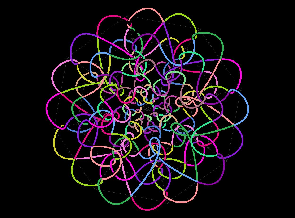 "Celtic: A Celtic knot pattern program inspired by ""Les Entrelacs Celtes"", by Christian Mercat"