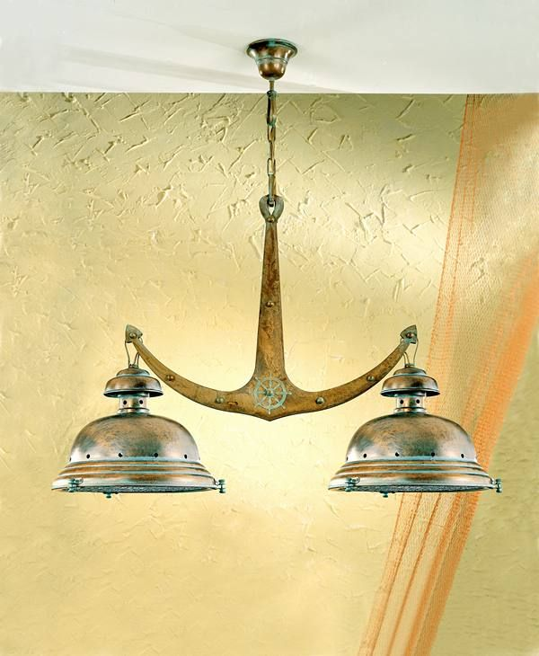 anchor light chandelier nautical