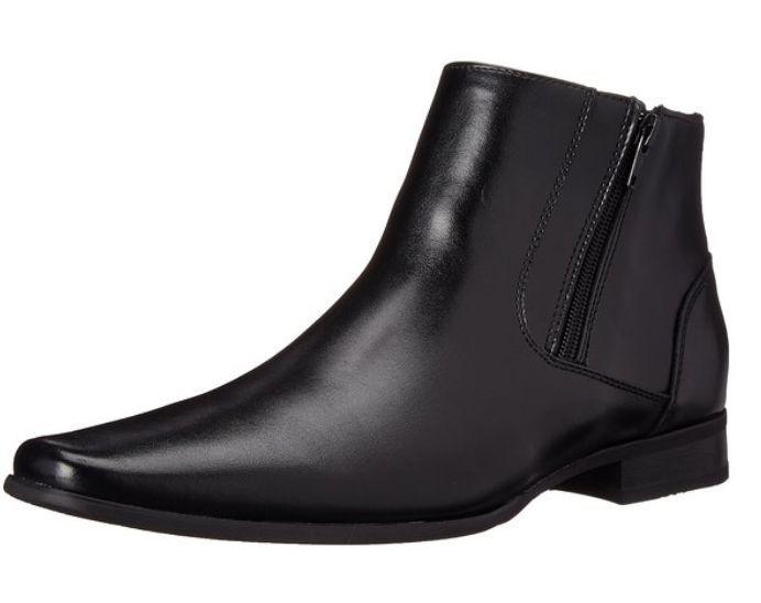 ad19f0ea1c9 Calvin Klein Men s Beck Leather Boot Zapato De Vestir Hombre