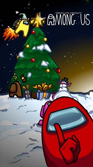 Among Us Wallpapers For Android Hd Wallpapers Wallpaper Iphone Christmas Cute Christmas Wallpaper Christmas Wallpaper