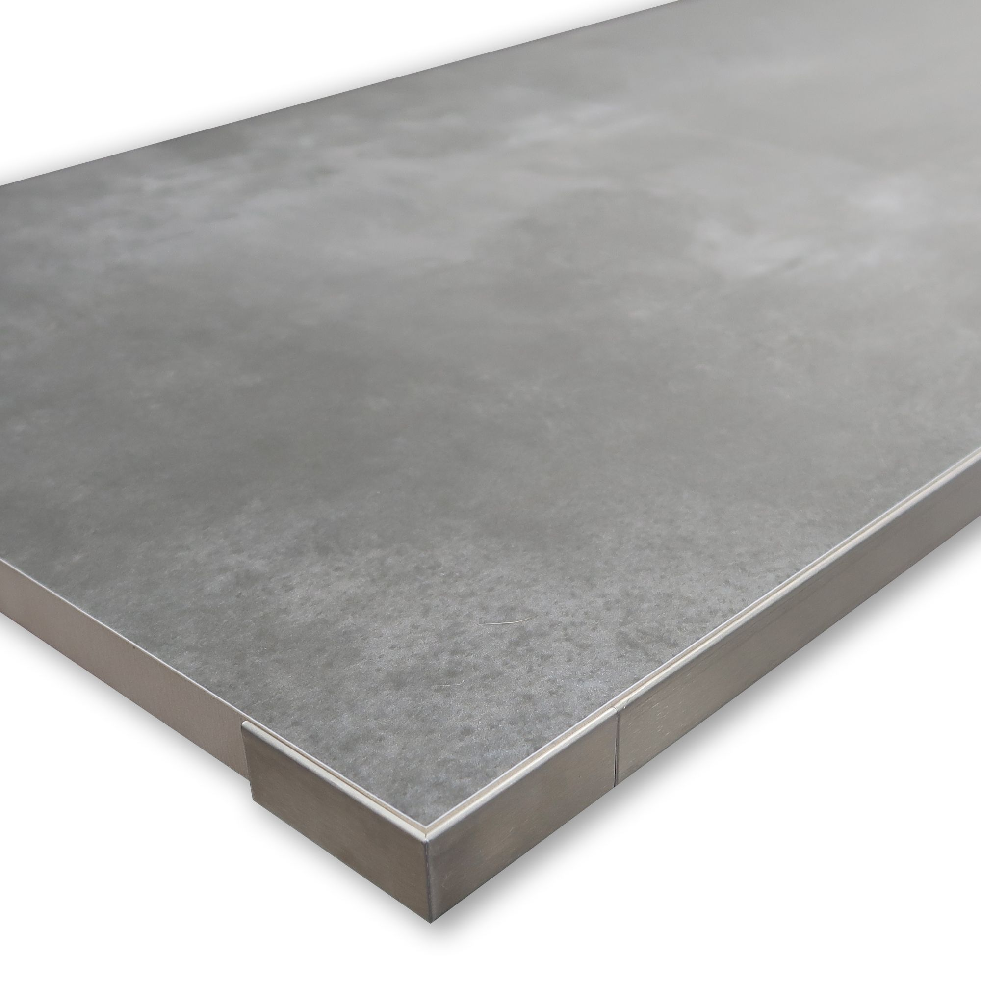 Porcelquick Stainless Steel Straight Edge External Tile Trim