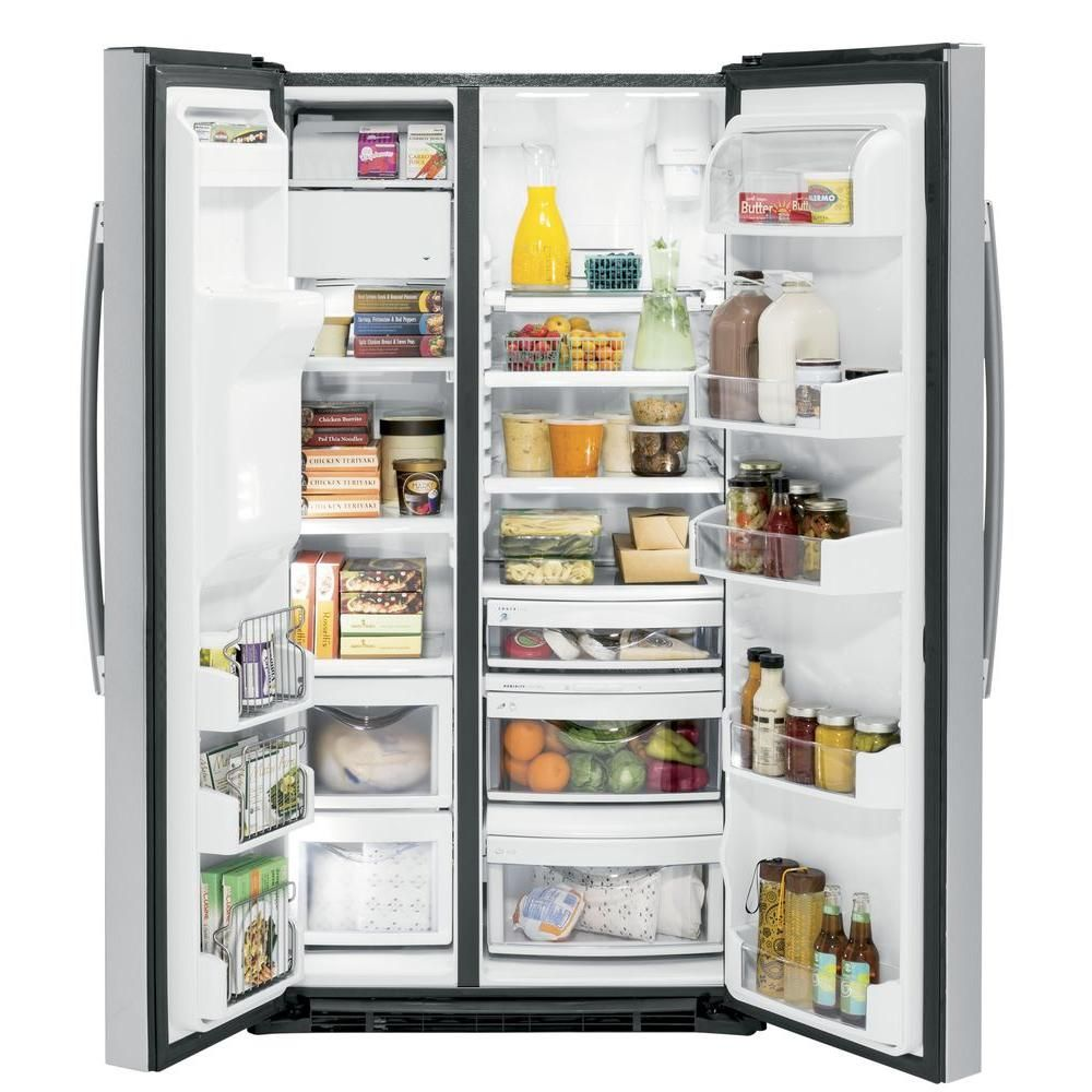 Ge profile 219 cu ft side by side refrigerator in