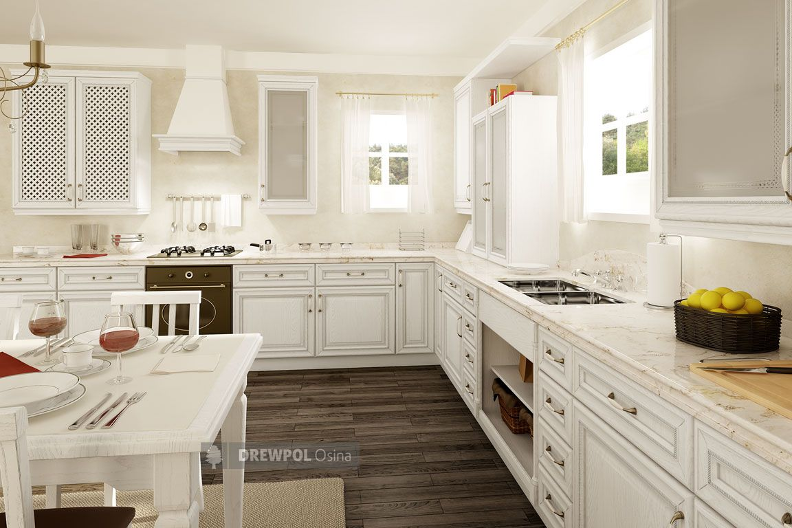 Stylish And Classy Kitchen With White Cabinets And White Marble Worktops Kitchen Units Classy Kitchen Classic Kitchens