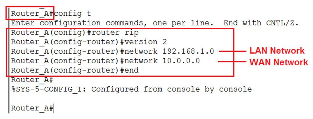how to configure router rip