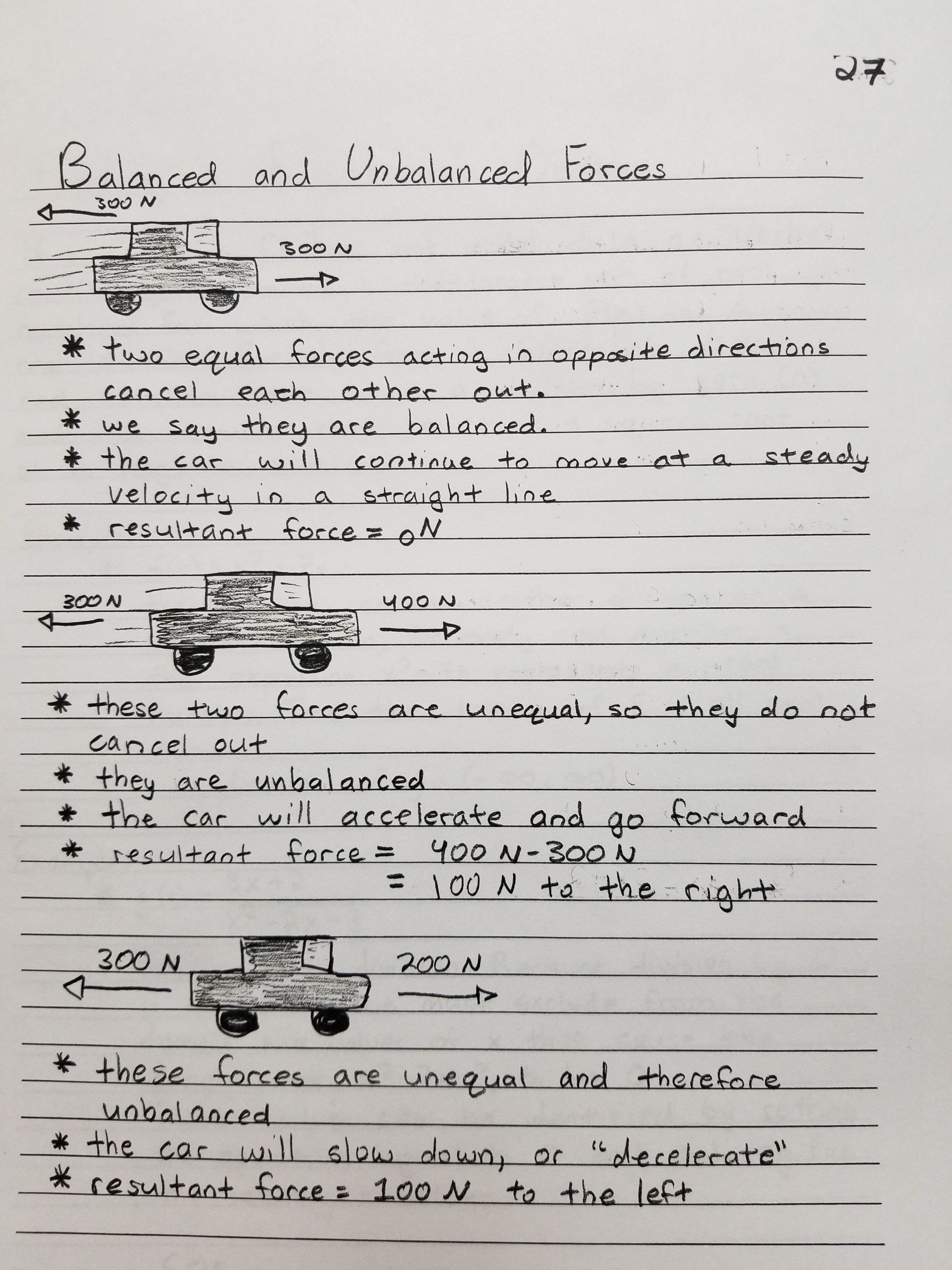 small resolution of Force and Motion Worksheet Answers Balanced and Unbalanced forces   Force  and motion