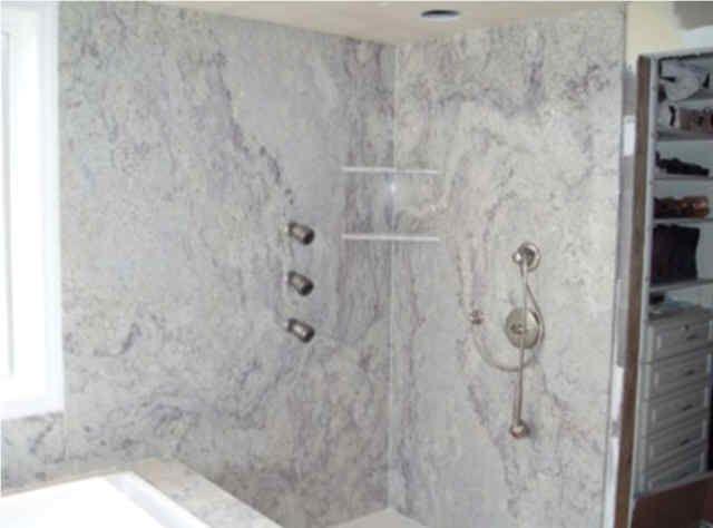 large slabs tiles shower walls bing images - Shower Surround