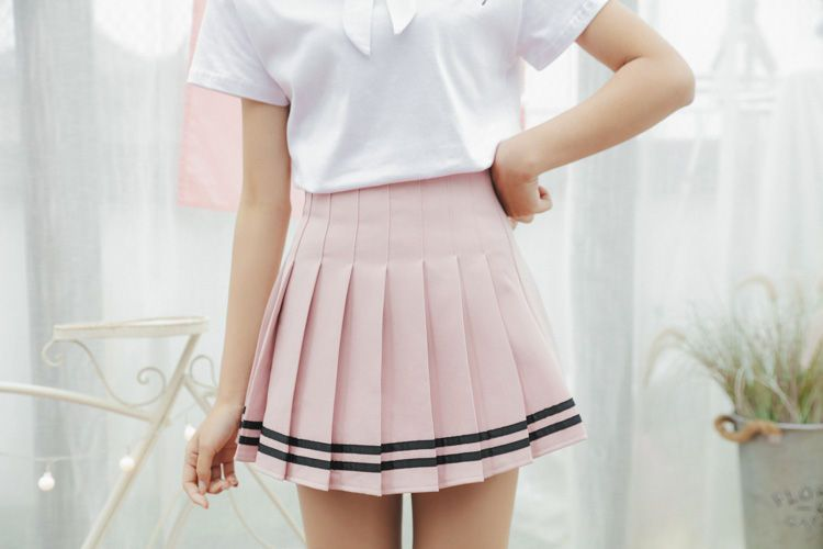 4e4e5e121b Pleated Stripe Mini Skirt in 2019 | Revolt Assist | Mini skirts ...