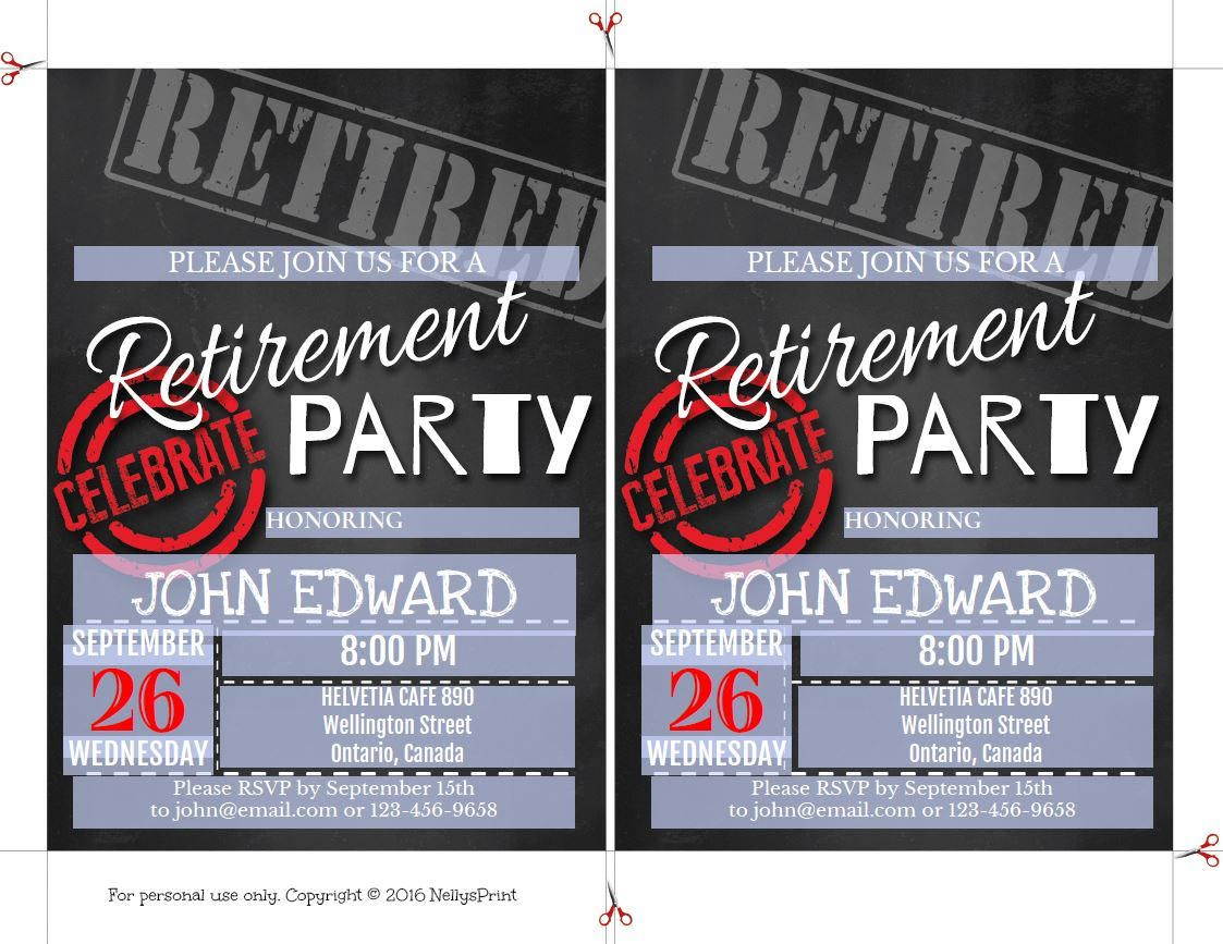 Retirement Party Invitation Retirement Party Invitations