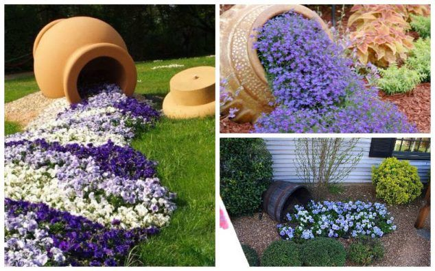 15 Diy Creative Flower Pots For A Dream Garden Flower Pots Garden Pots Cascading Planter