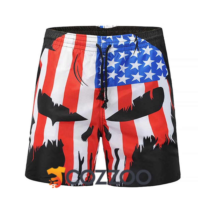 American Flag Mens Swim Trunks Quick Dry Bathing Suits Summer Casual Surfing Beach Shorts