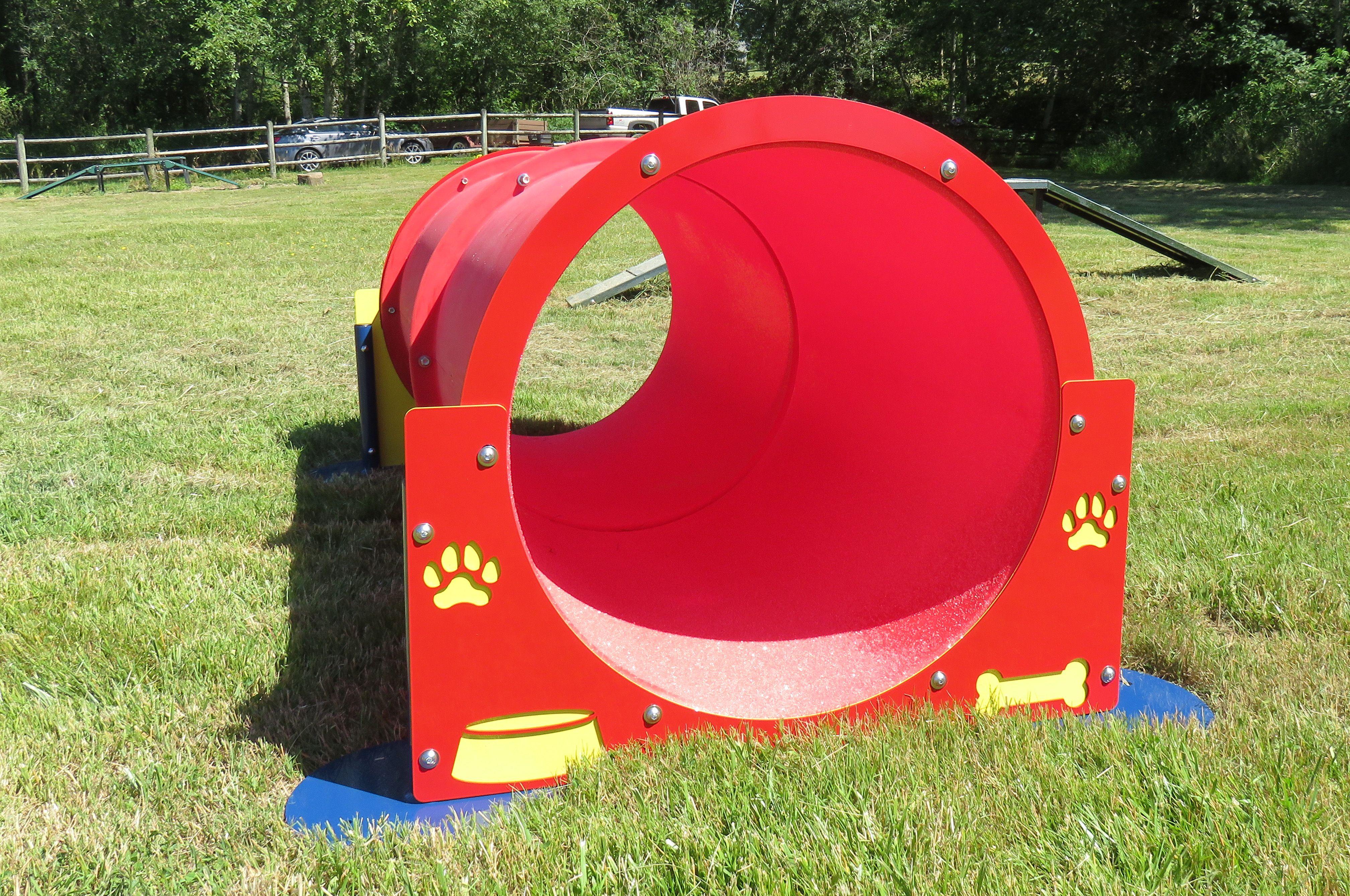 Double Bow Wow Barrel Bow Wow Dog Park Dog Agility