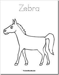 Image Result For Zebra No Stripes Clip Art Zebra Coloring Pages