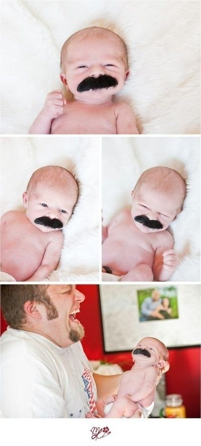 Mustache on a pacifier.