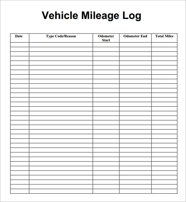 7 Vehicle Mileage Log Templates With Images Mileage Logging