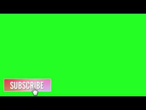 GREEN SCREEN BOTÃO INSCREVA-SE   ANIMATED BUTTON SUBSCRIBE