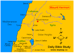 Hermon Maine Map.Image Result For Mount Hermon Bible Map History Bible Mapping