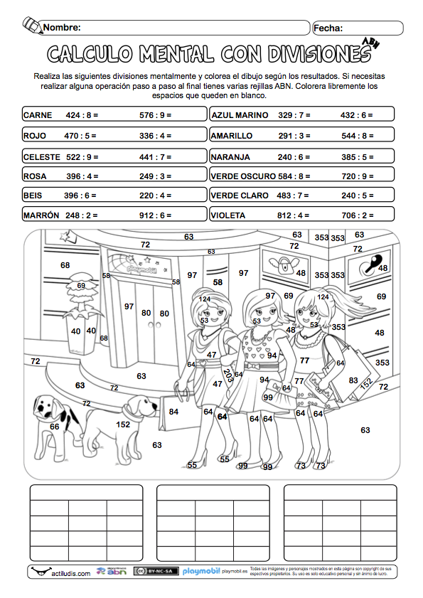 Divisiones de tres cifras con cálculo mental | classroom ideas ...