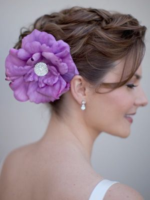 Purple Hair Accessory Promhair Formalapproach Flower Hair