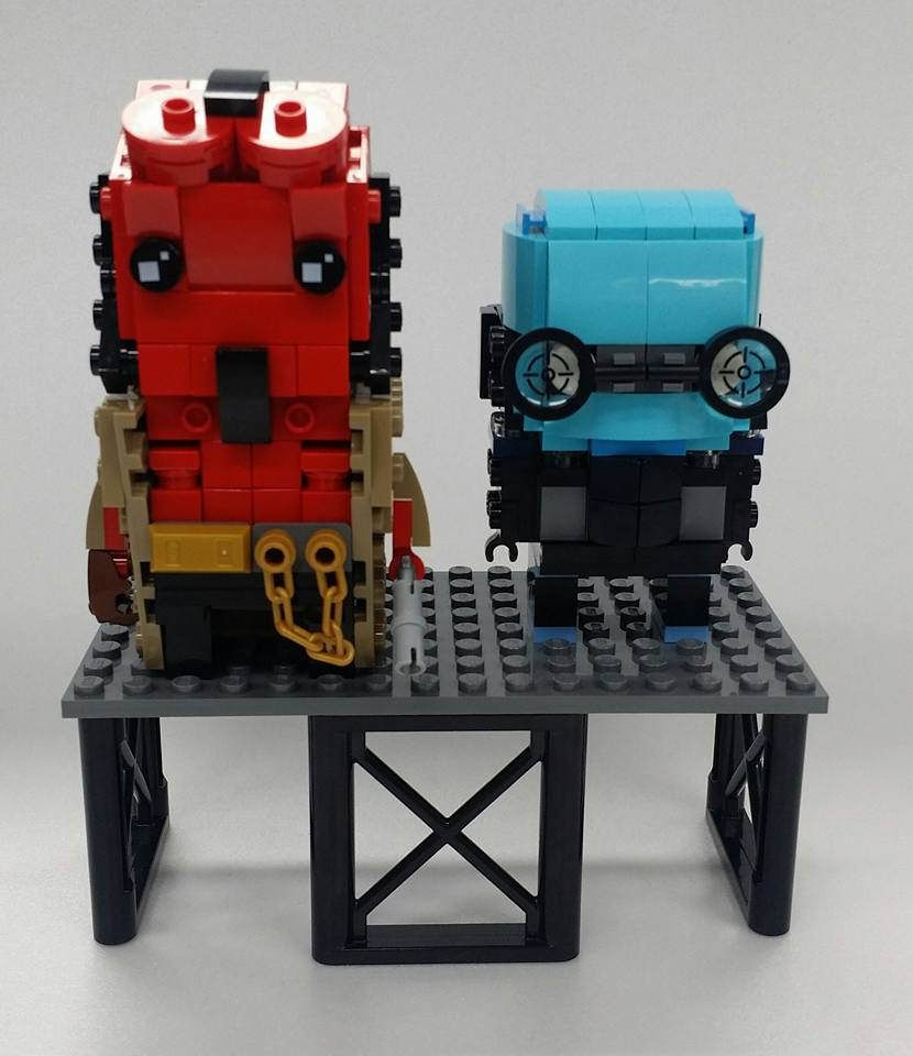 "Brick Headz ""Hellboy and Abe Sapien"""