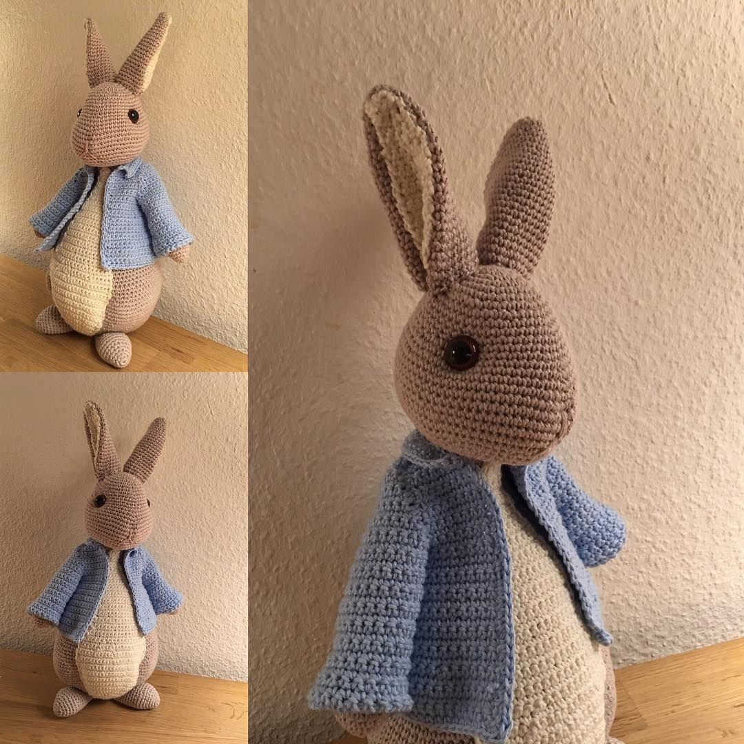 """224 Beğenme, 6 Yorum - Instagram'da Bettina Vang (@bettinavang): """"En fin lille kanin , minder om Peter kanin fra Beatrix potters  børne bøger #hækler #hæklerier…"""""""