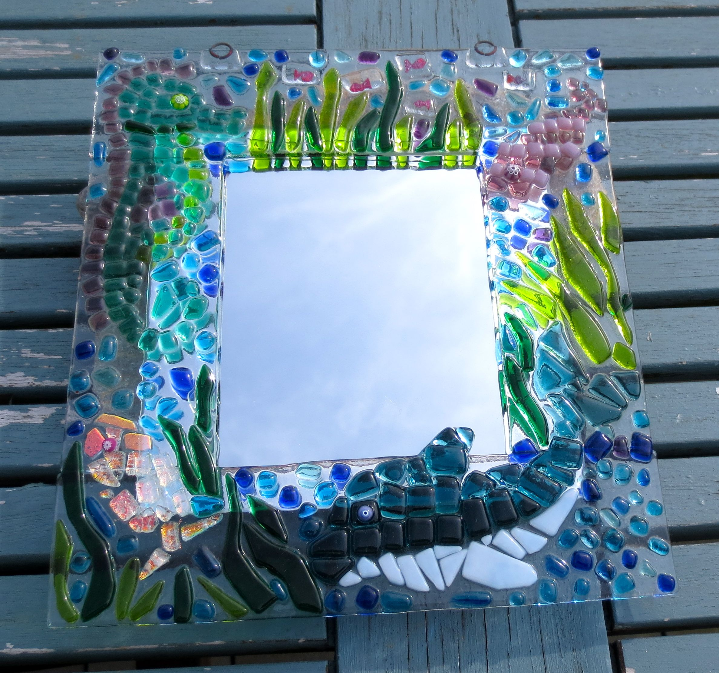 Fused Glass Frame | Glass Fusing | Pinterest | Vidrio, Espejo y Marcos