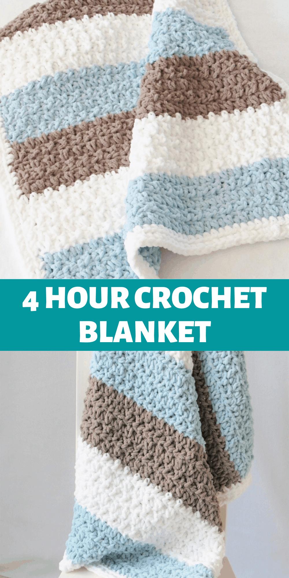 4 Hour Crochet Baby Boy Blanket Free Pattern Crochet Dreamz In 2020 Baby Blanket Crochet Pattern Crochet Baby Boy Baby Boy Crochet Blanket