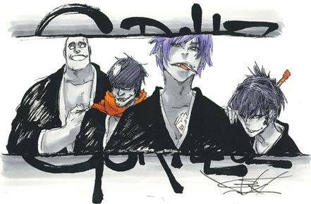 Gorillaz as Bleach characters. Very cool.