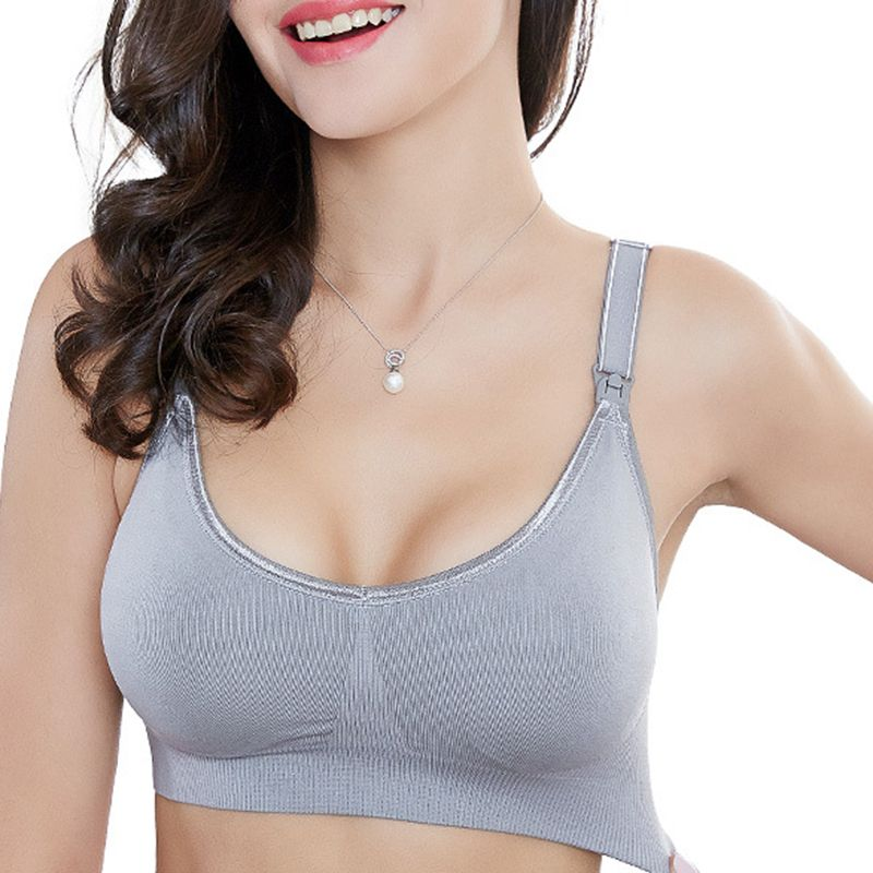 965f49f74 Soft Front Button Wireless Anti Sagging Breast-feed Nursing Bras On Sale -  NewChic Mobile