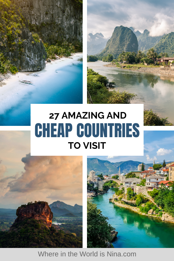 27 Of The Cheapest Countries To Visit In The World In 2020 Countries To Visit Vacation Trips Travel Destinations Unique
