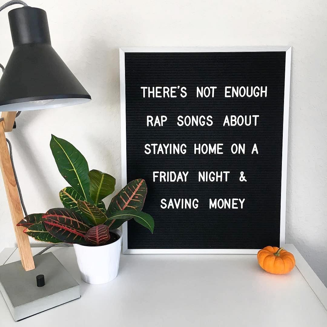 Saving Quotes: Letter Board, Quote