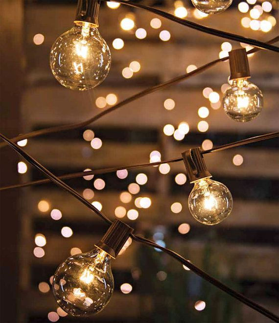 Outdoor String Lights Pinterest : 10.8 Feet Globe Lights String Lights Cafe String Lights Outdoor Lighting Patio Lighting Wedding ...