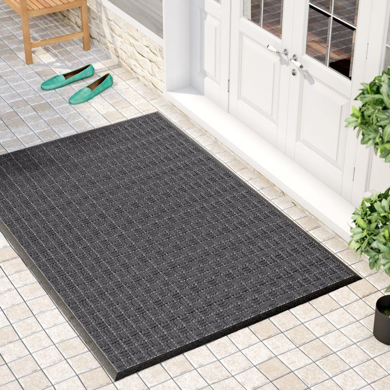 Red Barrel Studio Cobham Water Retainer Rubber Doormat Color: Black, Rug  Size: X