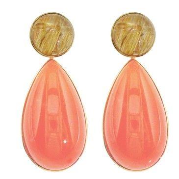 1STDIBS.COM Jewelry & Watches - HOWARD FINE JEWELLERS - AVENTURINE Drop Enhancer Earrings - Howard Fine Jewellers