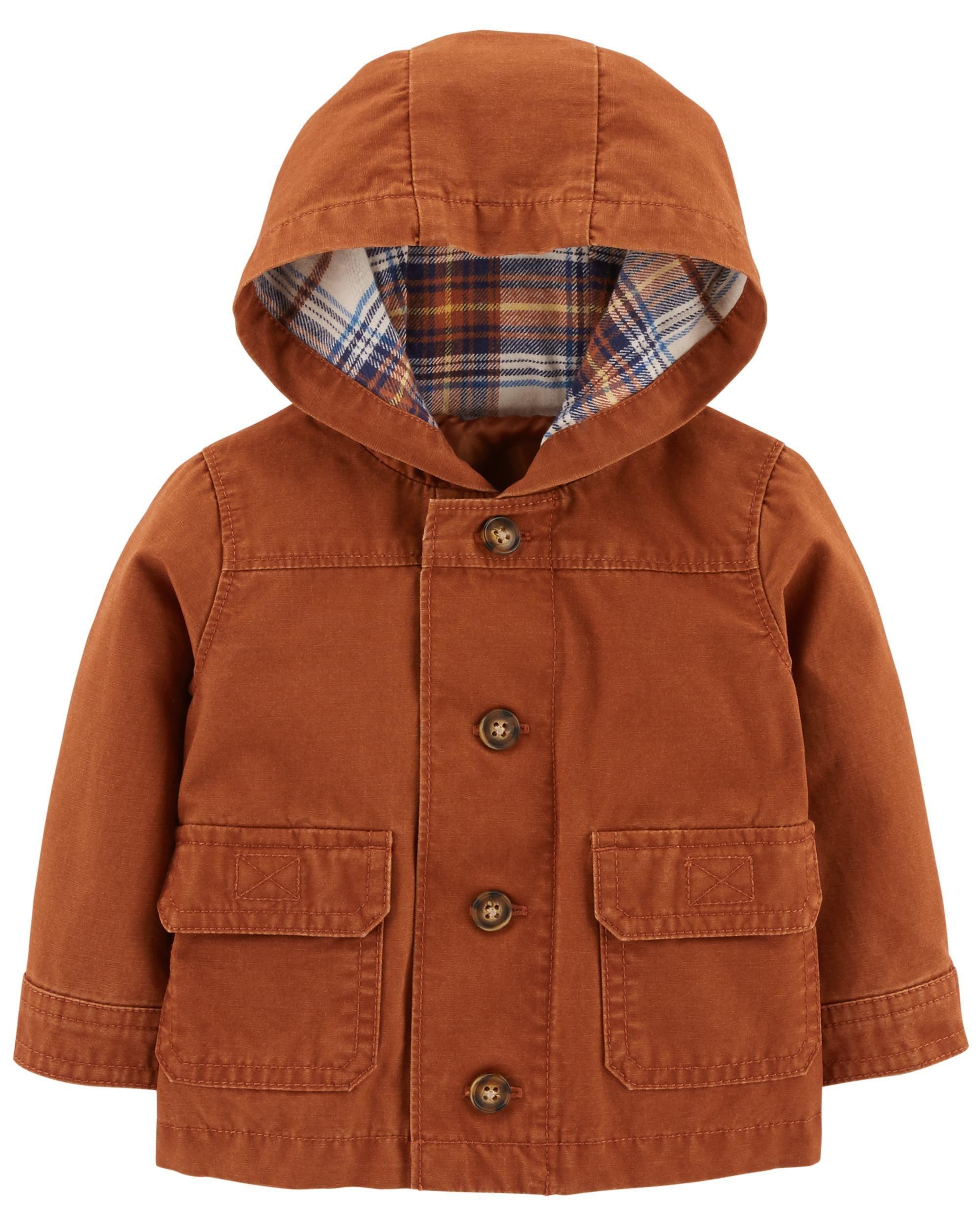 24e1f8953000 Button-Front Canvas Jacket