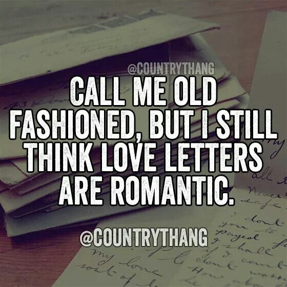 Love letters are romantic. Or just a random card too :-) 1-4-3