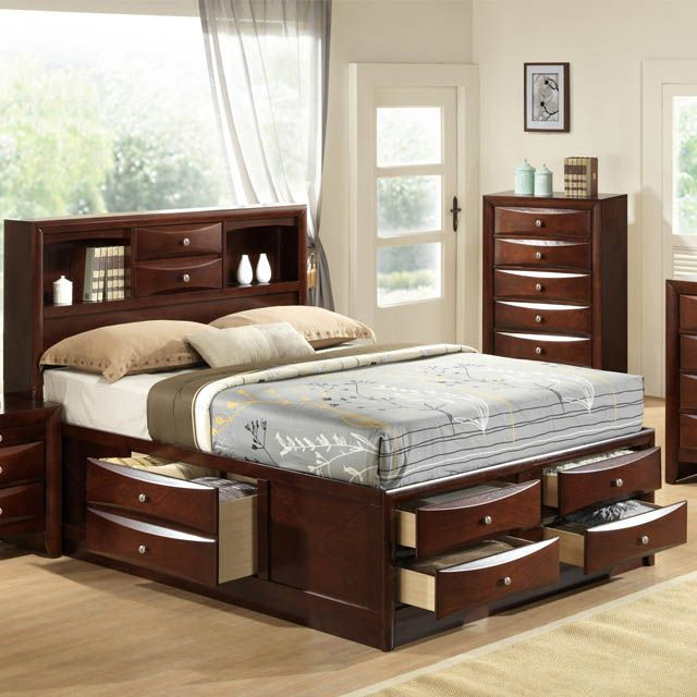 Emily King Storage Bed Bernie And Phyls Bedroom Furniture Sets