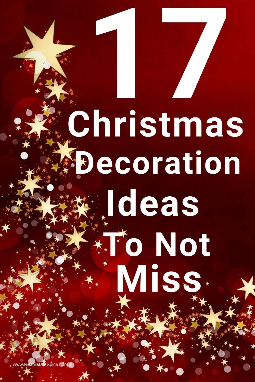 17 Christmas Decoration List Ideas To Celebrate Your 2021 Holiday Christmas Decorations Christmas Decorations List Christmas