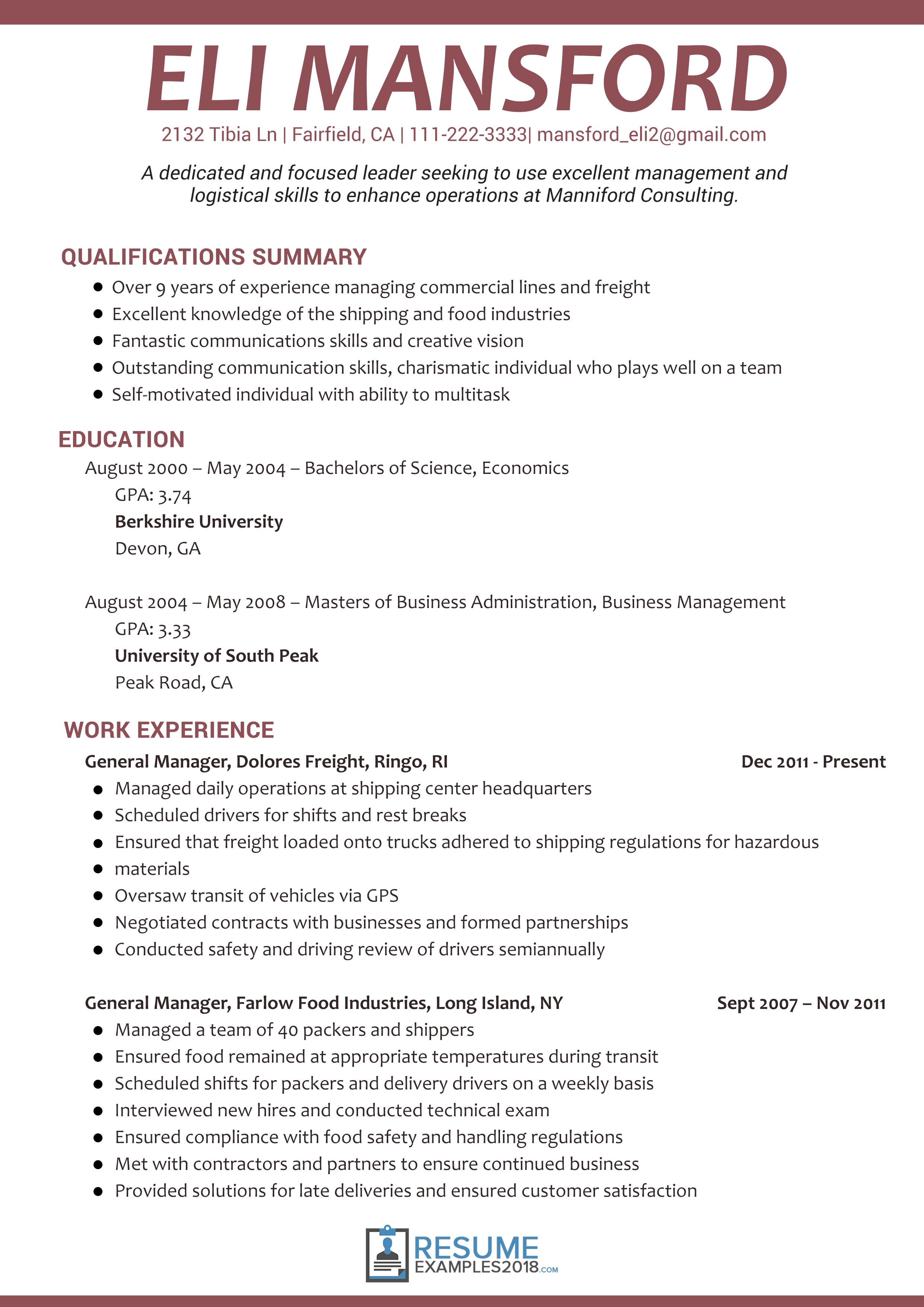 Resume Examples 2018 For Students Student Resume Template