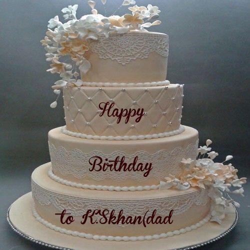 Write My Name Online Big Layer Birthday Wishes Cakes