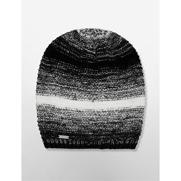 cc2a956c402 Calvin Klein Women s Marled Knit Beanie ( 20) ❤ liked on Polyvore featuring  accessories