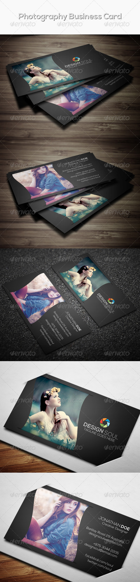 Photography Business Card Template #card #vcard Download: http ...