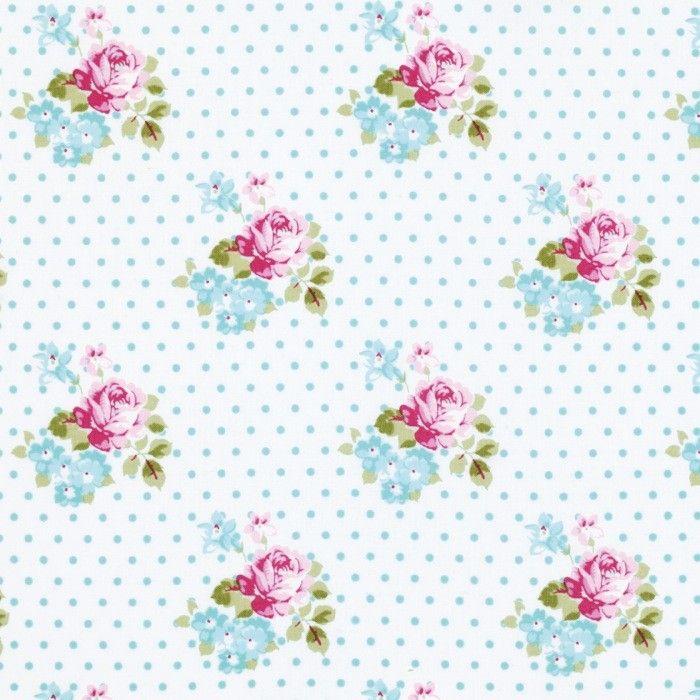 Sunshine Rose -  Blue Hanky Rose �3.5 http://www.thehomemakery.co.uk/fabric/fabric-all/sunshine-rose-blue-hanky-rose