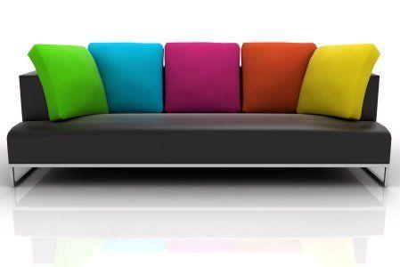 Cushions On Sofa Sofa Colors Sofa Multi colored living room furniture