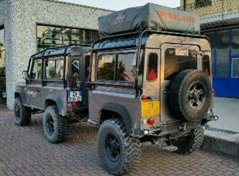 Defender 90 with custom LR trailer
