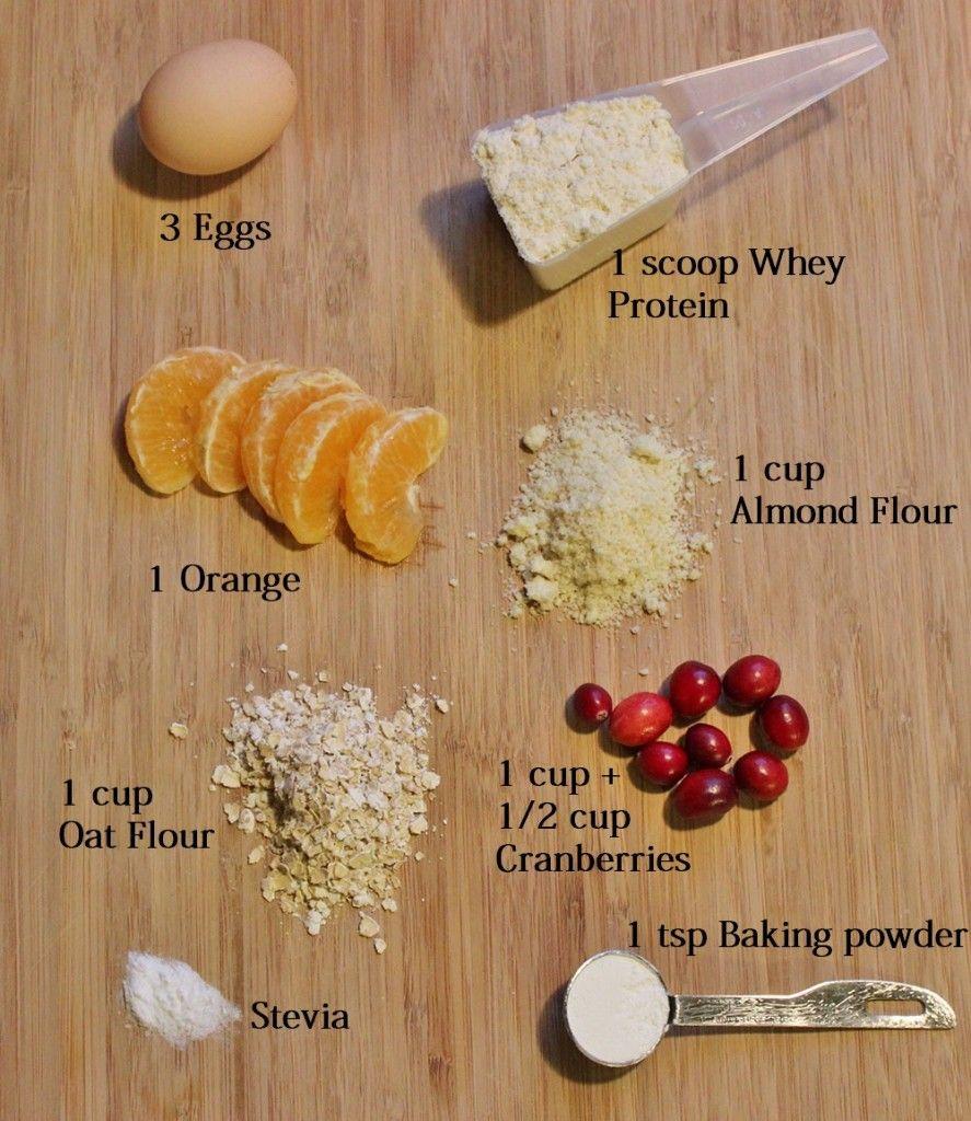 High Protein, No Sugar Cranberry Orange Bread Recipe using 8 simple ingredients!
