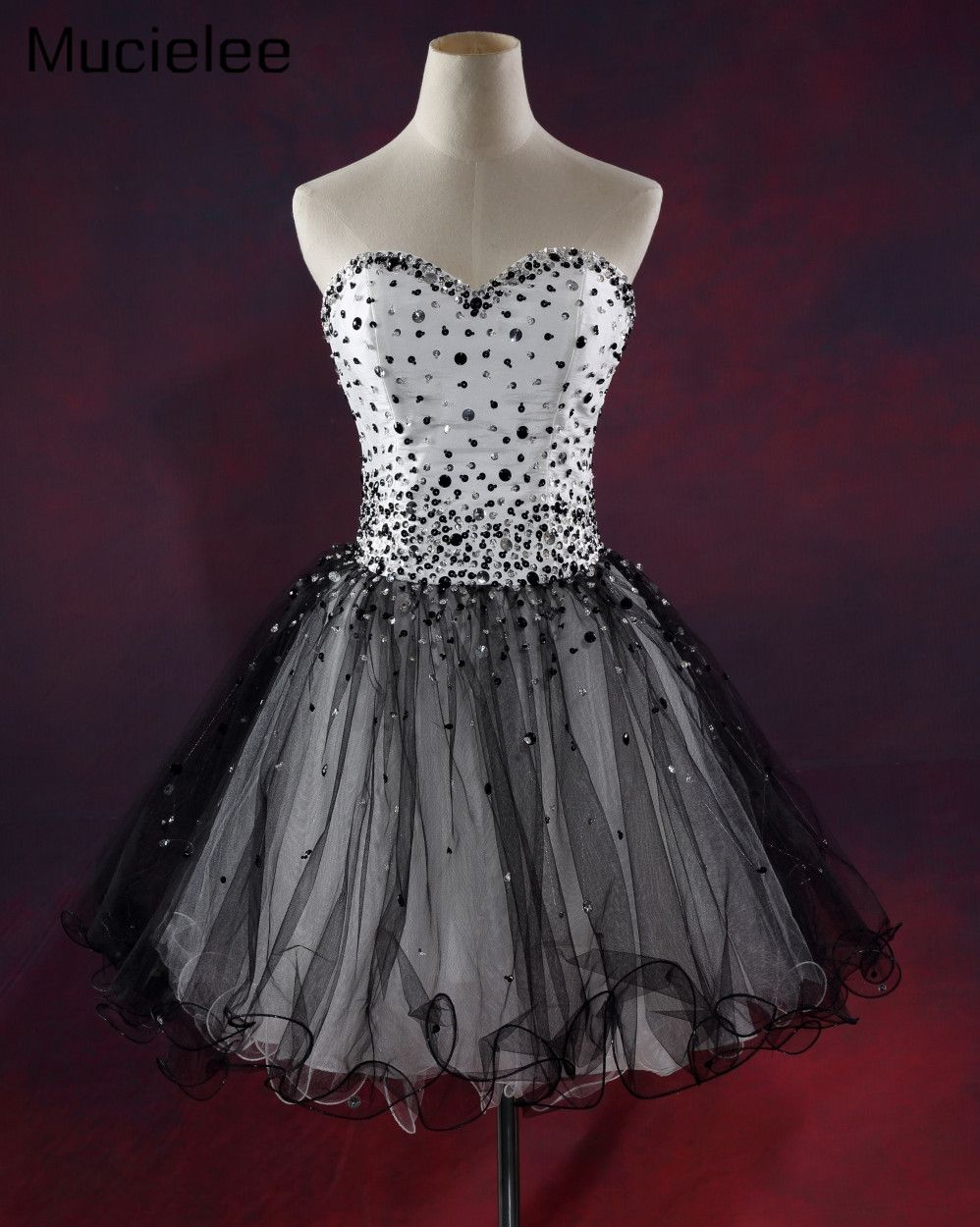 Click to buy ucuc vestidos de fiesta gala real sample cheap black and