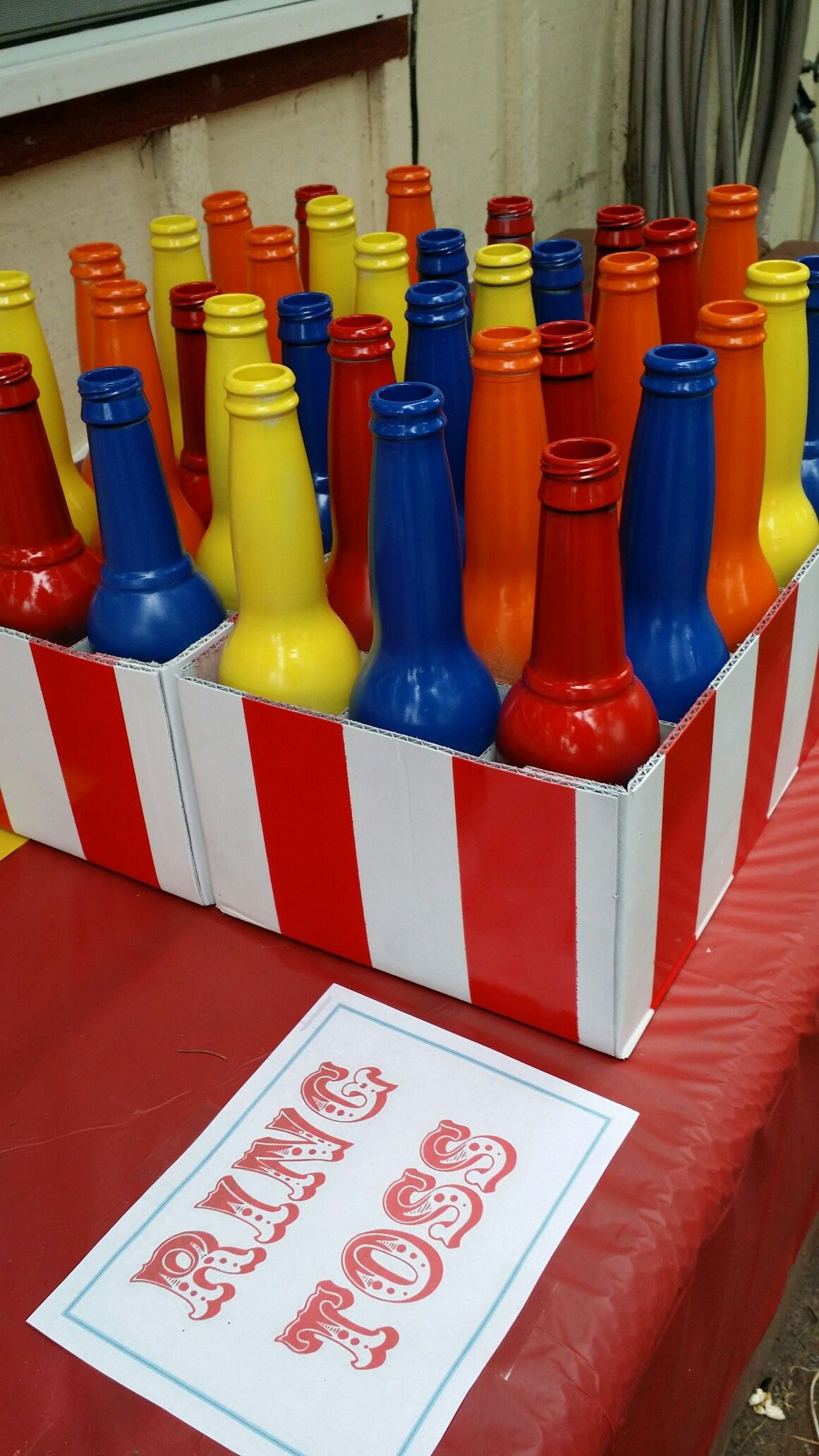 Carnival circus birthday party game idea ring toss outdoor ...