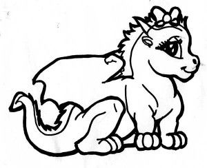 Chinese Dragon Illustration in Cartoon Coloring Page - Free ...