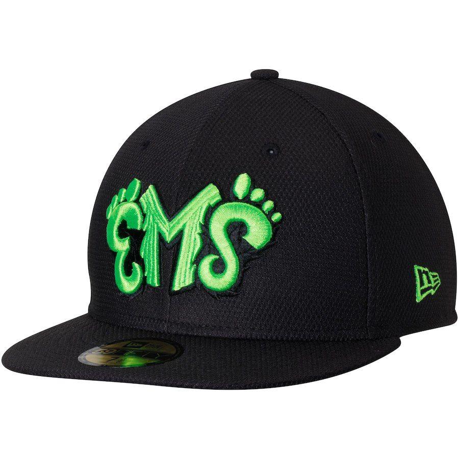 Men s Eugene Emeralds New Era Black Diamond Era 59FIFTY Fitted Hat ... 44a3f0ab4